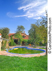 luxury house with swimming pool - luxury house with swiming...