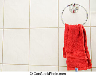 red towel closeup