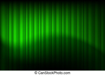Green drapes reflected - Green drapes reflected....