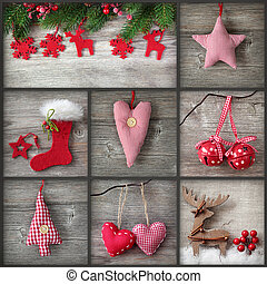 コラージュ, 写真, クリスマス
