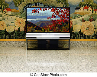 pure nature in your home - big plasma screen