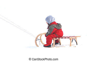 sledding - winter games