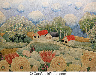 carpet with nature and house decoration