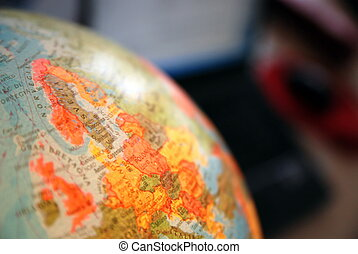 Teamwok concept with hands on globe (NIKON D80; 20.3.2007;...