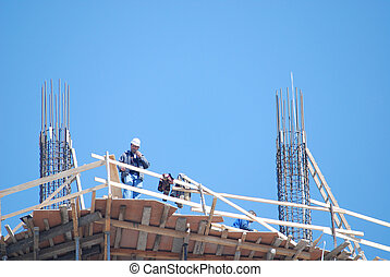 construction site with large zoom