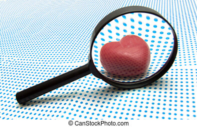 true love searching - magnifying glass