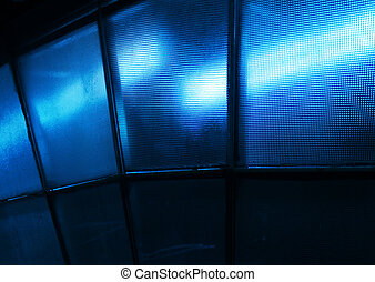 Blue light textured glass - Blue light effect through...