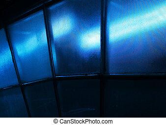 Blue light textured glass - Blue light effect through...