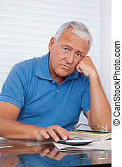 Upset Senior Man - Portrait of senior man upset with...