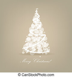 Abstract vector white christmas tree