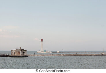 Odessa lighthouse, the view from boat