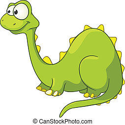 Cartoon Character Dino Isolated on White Background. Vector.