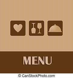 Restaurant and bar menu list