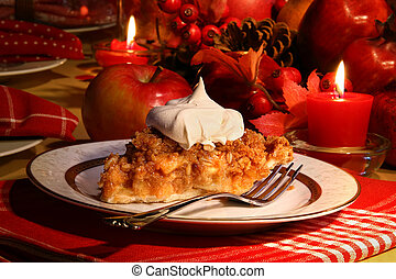 Apple crumble pie for the holidays - Delicious apple crumble...