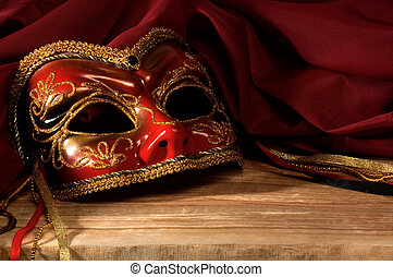 Still life with Venetian carnival mask.