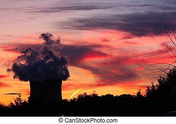 Nuclear Power at Sunset