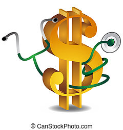 Financial Health - An image of a gold dollar sign and a...