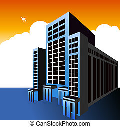 Highrise Office Building - An image of a highrise office...