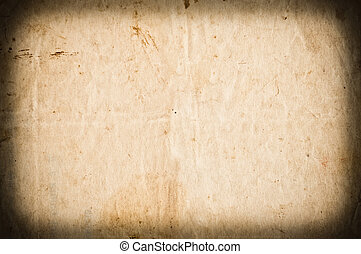Empty stained paper