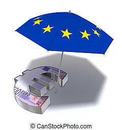 Aid Package for the Euro - a sunshade covered with the...