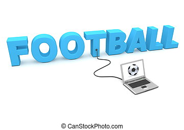 Laptop Wired to Football