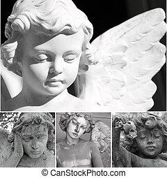 colagem, anjos