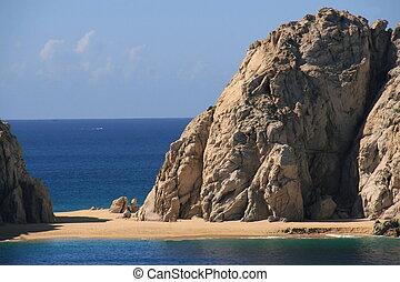 cabo san lucas beach - beach and cliff cabo san lucas