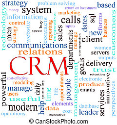 CRM, palavra, conceito, Ilustração