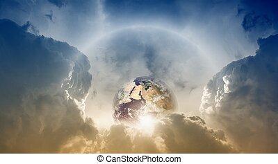 Planet Earth in sky