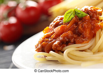 Spaghetti Bolognese. - Spaghetti with a Bolognese and...
