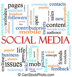 Social Media word concept illustration - An illustration...