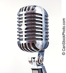 Retro Microphone, on white background