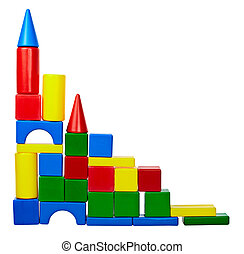 Tower of color toy blocks - The tower of colored toy blocks...
