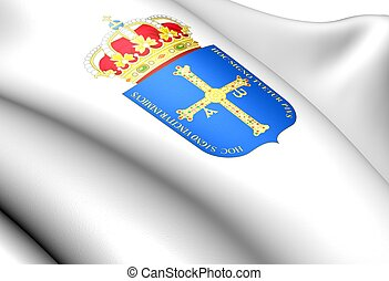 Principality of Asturias coat of arms, Spain Close up