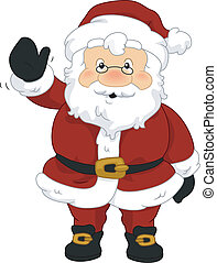 Santa Wave - Illustration of Santa Claus Waving