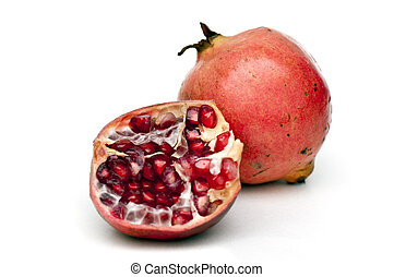 Pomegranate - Freshly cut pomegranete ready to be served