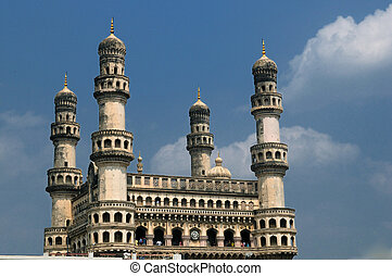 Charminar - 400 year old historic monument in hyderabad,...