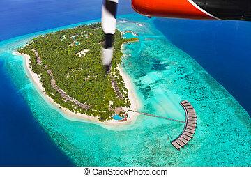 Tropical island at Maldives
