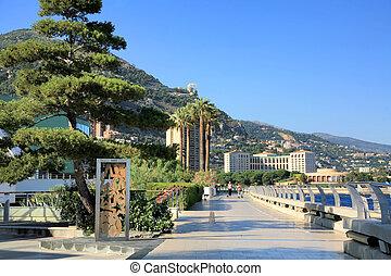 Promenade in Monte Carlo in Monaco