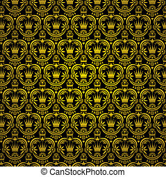 decor floral background - vector wallpaper background with...