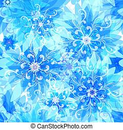 Seamless floral blue pattern - Seamless pattern with blue...