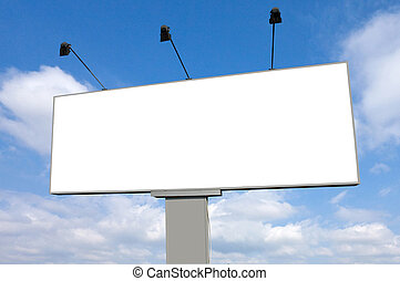 Empty Billboard Road Signwith Clear Sky