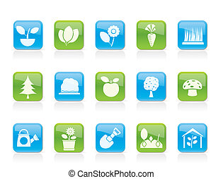 Different Plants and gardening Icon
