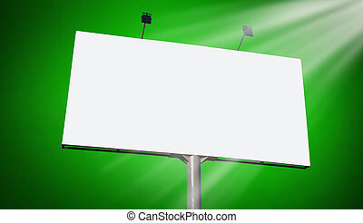 Blank billboard against orange sky, put your own text here