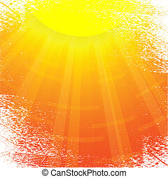 Sun. - Sun and sunbeams. Vector illustration.