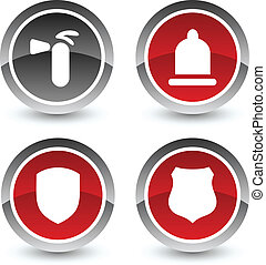 Safety icon set Vector illustration