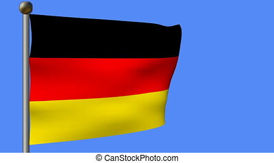 german flag in blue sky