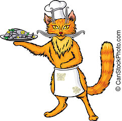 Red cat chef the fish dish