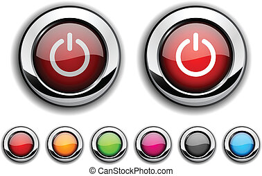 Switch button. - Switch realistic buttons. Vector...