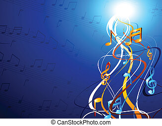 Music backgrounds. - Luminous music backgrounds. Vector...